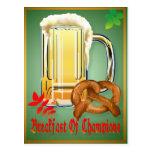 Desayuno de la postal Campeón-Feliz de Oktoberfest
