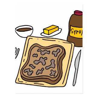 Desayuno de la tostada francesa tarjetas postales