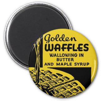 Desayuno de oro de las galletas iman de nevera