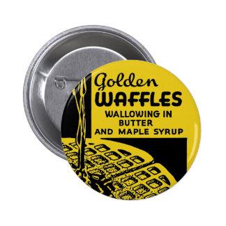 Desayuno de oro de las galletas pin redondo de 2 pulgadas