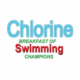 Desayuno del cloro de nadadores esculturas fotográficas