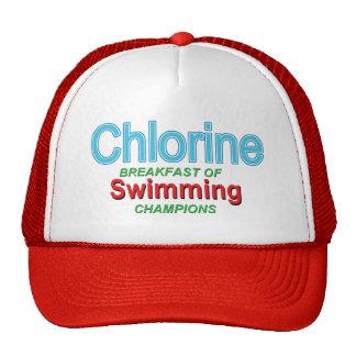 Desayuno del cloro de nadadores gorro de camionero