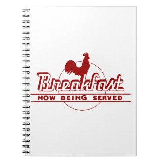 Desayuno del gallo cuaderno