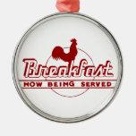 Desayuno del gallo ornaments para arbol de navidad