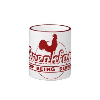 Desayuno del gallo taza