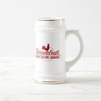 Desayuno del gallo taza de café
