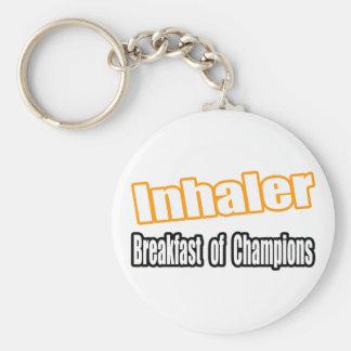 Desayuno del inhalador… llavero redondo tipo pin