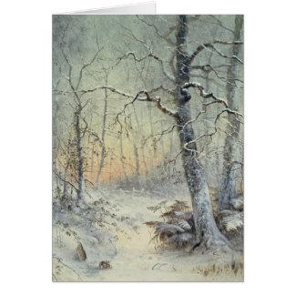 Desayuno del invierno tarjeta de felicitación