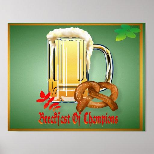 Desayuno del poster Campeón-Feliz de Oktoberfest
