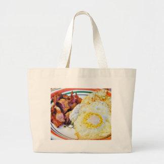 Desayuno del tocino de los huevos bolsas de mano