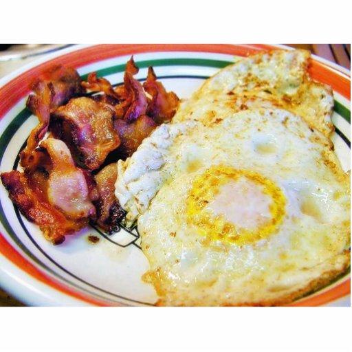 Desayuno del tocino de los huevos escultura fotografica