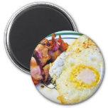 Desayuno del tocino de los huevos imán de frigorifico