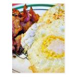 Desayuno del tocino de los huevos tarjeta postal