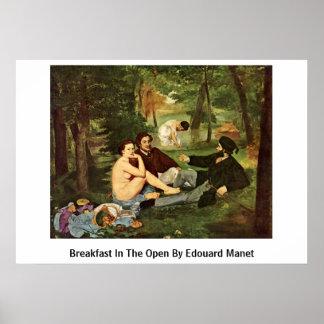 Desayuno en el abierto de Eduardo Manet Posters