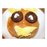 Desayuno feliz de la cara comunicados personalizados