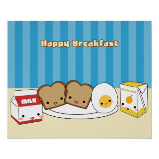 Desayuno feliz poster