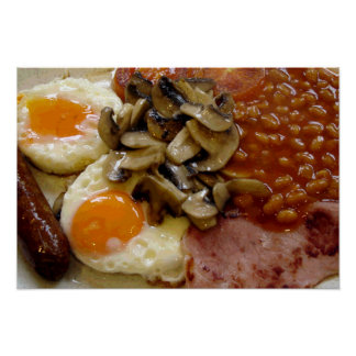 Desayuno frito póster