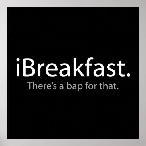 desayuno - hay un Bap para eso Póster