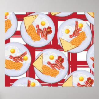 Desayuno inglés póster