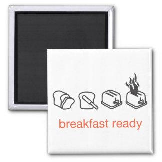 desayuno listo imán cuadrado
