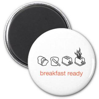 desayuno listo imán redondo 5 cm
