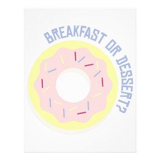 ¿Desayuno o postre? Membrete A Diseño
