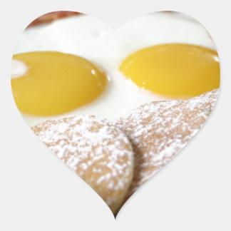 Desayuno Pegatina En Forma De Corazón