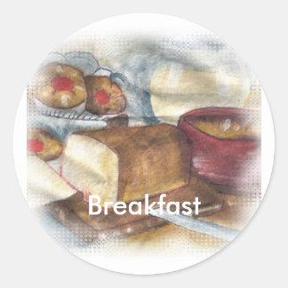Desayuno Pegatina Redonda