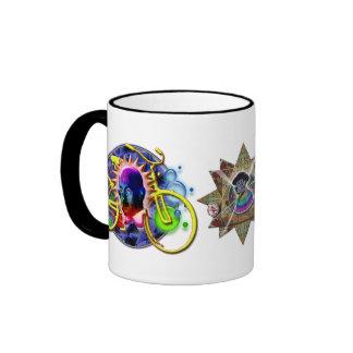 Desayuno psicodélico taza de dos colores