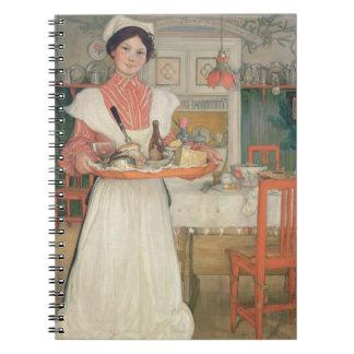 Desayuno que lleva en una bandeja, 1904 de Martina Cuadernos