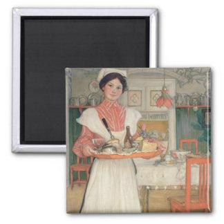 Desayuno que lleva en una bandeja, 1904 de Martina Imán Cuadrado