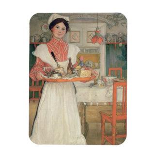 Desayuno que lleva en una bandeja, 1904 de Martina Imanes Flexibles