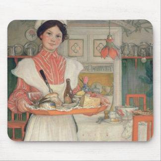 Desayuno que lleva en una bandeja, 1904 de Martina Alfombrillas De Ratones