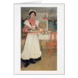 Desayuno que lleva en una bandeja, 1904 de Martina Tarjeta De Felicitación