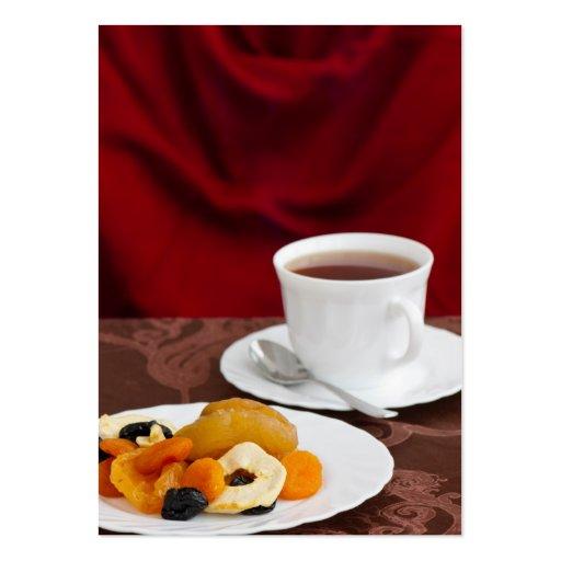 Desayuno sano tarjetas de visita grandes
