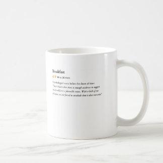 desayuno - taza urbana del diccionario