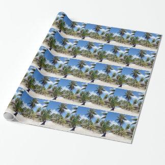 Desayuno tropical de la cama de la playa papel de regalo
