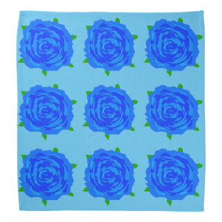 Desbloqueo azul de los rosas en pañuelo bandana