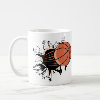 Desbloqueo del baloncesto tazas de café