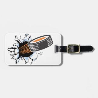 Desbloqueo del hockey etiquetas para maletas