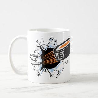 Desbloqueo del hockey taza de café