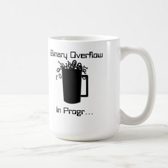 Desbordamiento binario taza de café