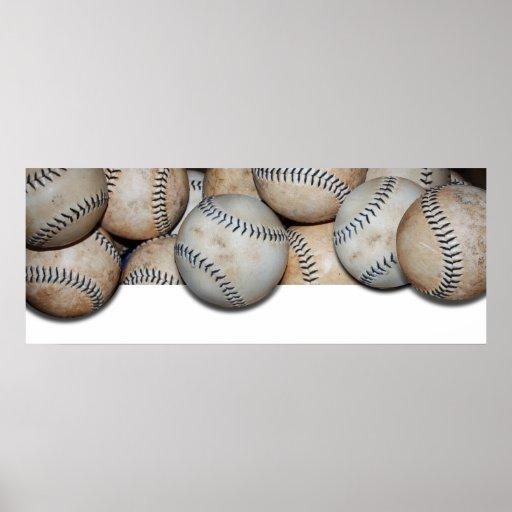 Desbordamiento del béisbol posters