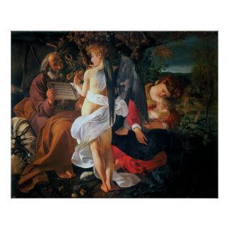 Descanse sobre el vuelo en Egipto, Caravaggio Impresiones