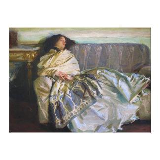 Descanso de John Singer Sargent Lona Envuelta Para Galerias