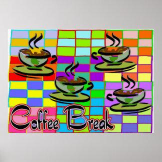 Descanso para tomar café 3 poster