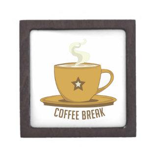Descanso para tomar café cajas de recuerdo de calidad