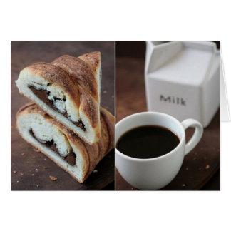 Descanso para tomar café: Danés de Nutella Tarjeta Pequeña