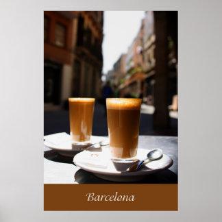 Descanso para tomar café de Barcelona Posters