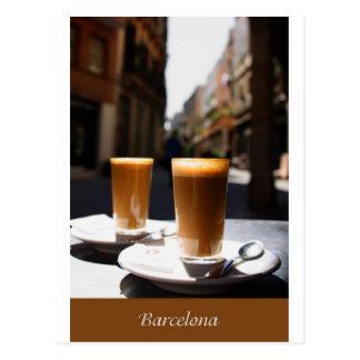 Descanso para tomar café de Barcelona Postales